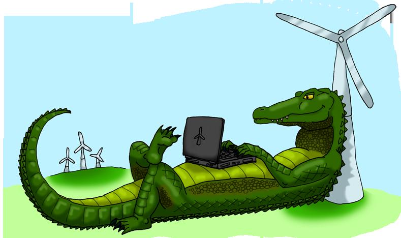 Green Gator Logo